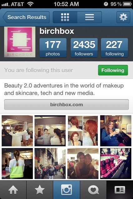 Birchbox shows off their company culture on instagram