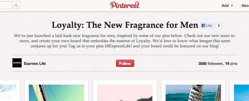Add a description to your pinterest board.