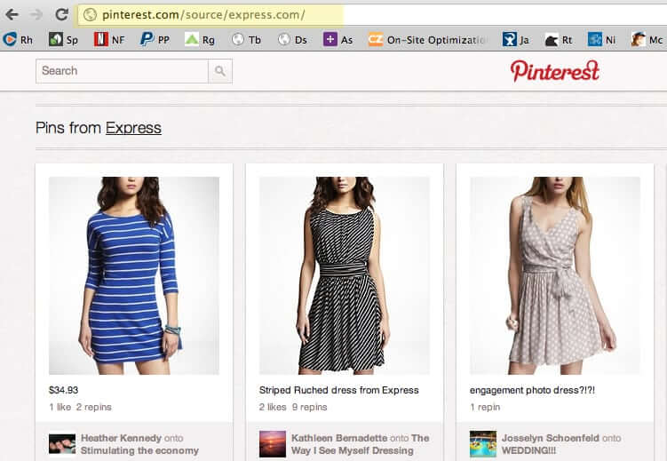 Search by your URL on Pinterest