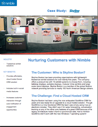 Find out how Skyline Boston nurtures customers with Nimble