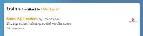 Top Sales expert twitter list