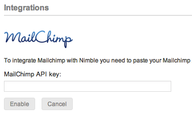 How to: integrate Nimble with MailChimp