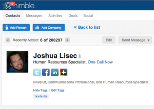 View HootSuite Contact in Nimble