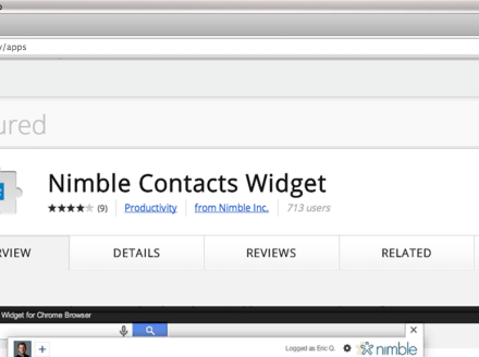 Nimble Everywhere Launch – Nimble Chrome Extension and Widget 2.0