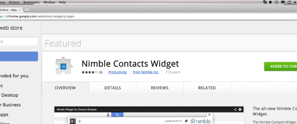 Nimble Contacts Widget for Chrome