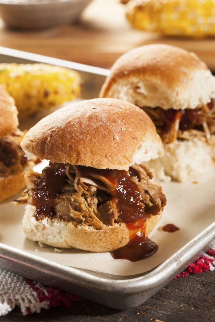 Smoked Barbecue Pulled Pork Sliders