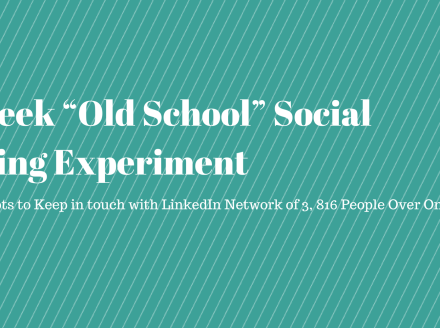 "Results of Kurt Shaver's ""Old School"" Social Selling Experiment"