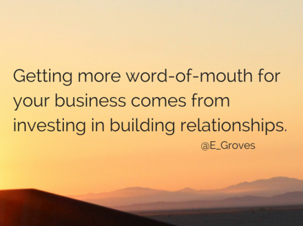 Word-of-Mouth: The Path to Success