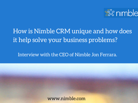 How is @Nimble #CRM unique and how can it help your business?