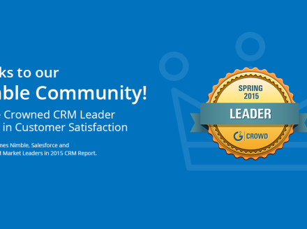 Nimble Crowned #1 CRM in Satisfaction and Market Leader by G2 Crowd