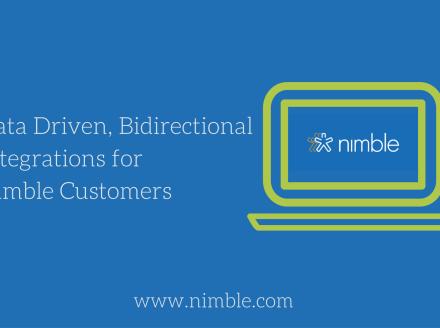 Data Driven, Bidirectional Integrations for Nimble Customers