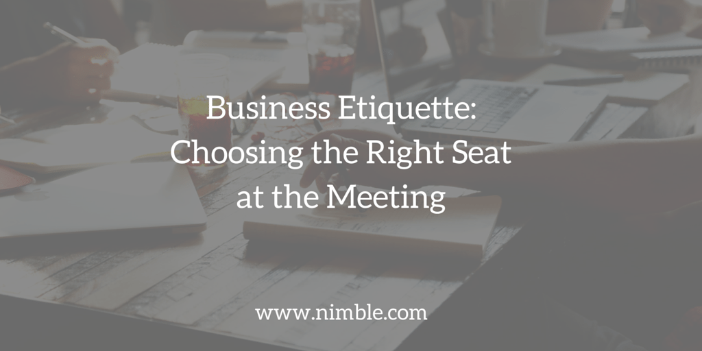 Business Etiquette- Choosing the Right Seat at the Meeting (1)