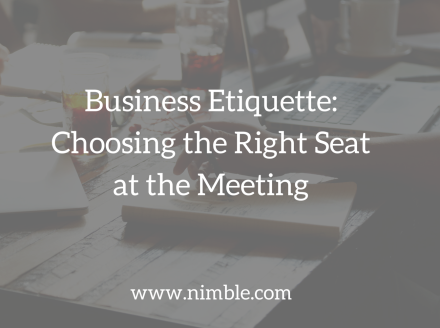 Business Etiquette: Choosing the Right Seat at the Meeting