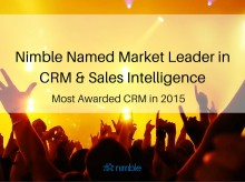 @Nimble Named Market Leader in #CRM & #Sales Intelligence