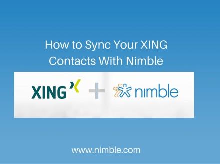 Closing the Circle: Bringing Your XING Contacts to Nimble