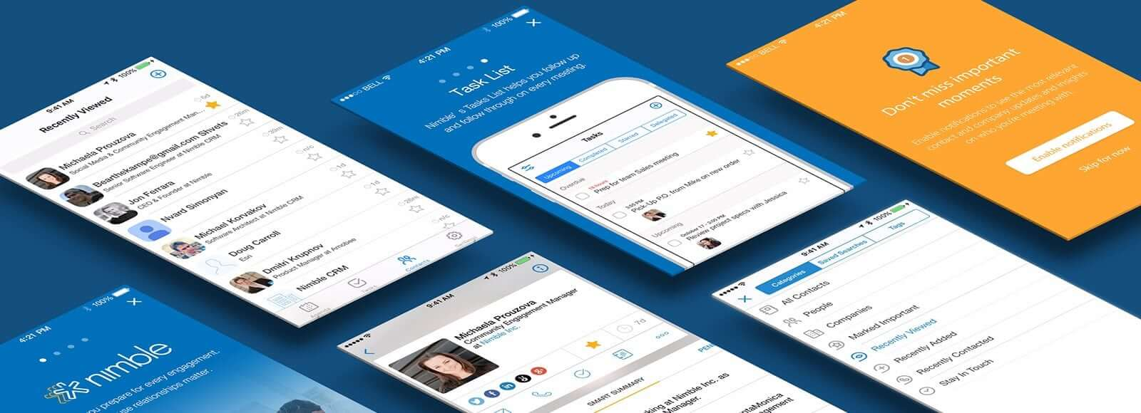 Agenda App Sync smart agenda and contacts insights in nimble mobile app