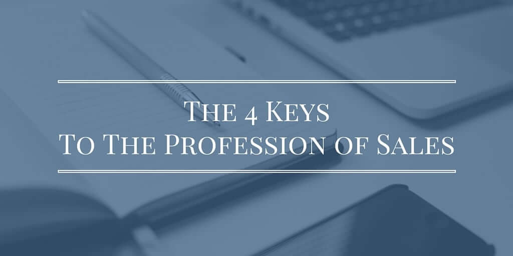 Twitter- The 4 Keys To The Profession of Sales (1)