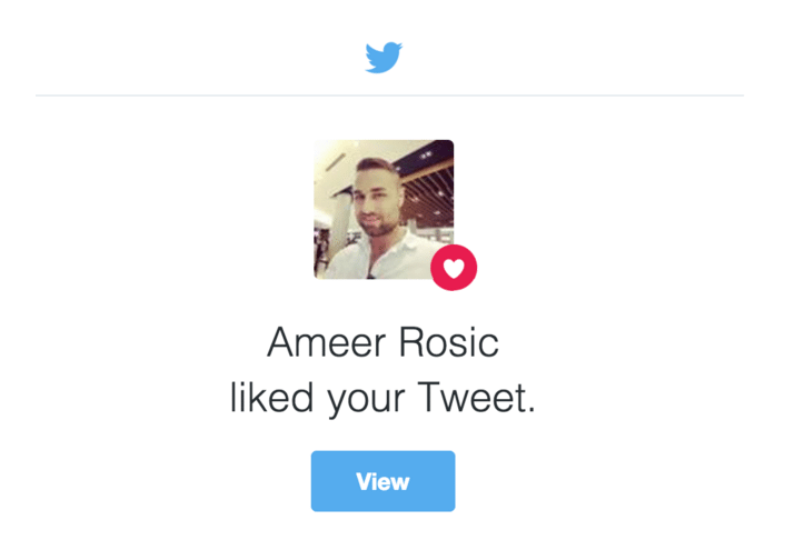 Ameer Rosic liked your Tweet
