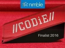 Nimble Named CRM Finalist in Prestigious CODiE Awards 2016