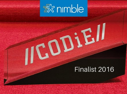 Nimble Named CRM Finalist in Prestigious CODiE Awards 2016