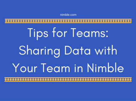 Sharing Data with your Team in Nimble