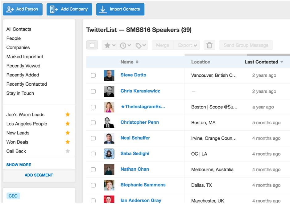 Twitter Lists SM Examiner Speakers