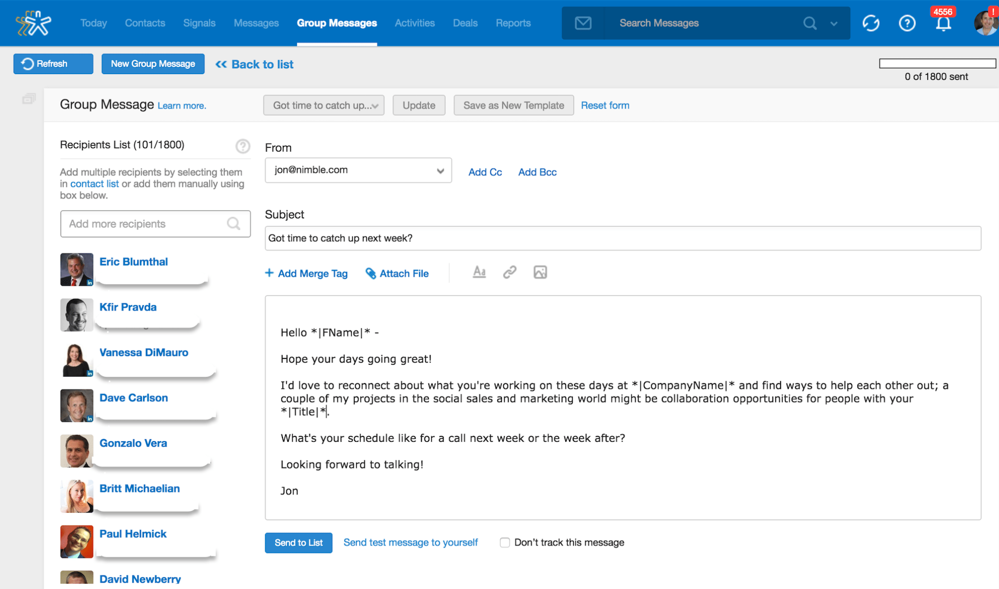 Nimble Group Messaging