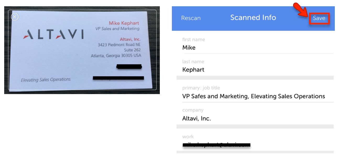 Scanned Biz Card