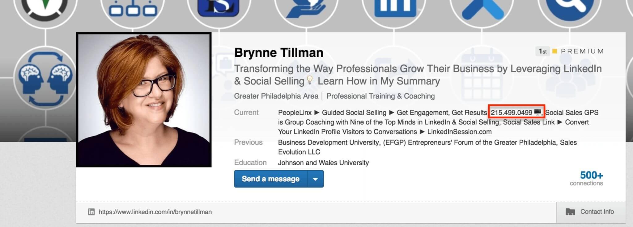 Brynne Tillman LinkedIn Bio