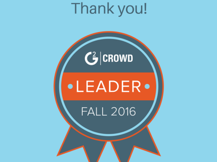 Nimble Named #1 in Sales Intelligence for Customer Satisfaction & Market Leader G2 Crowd Fall 2016