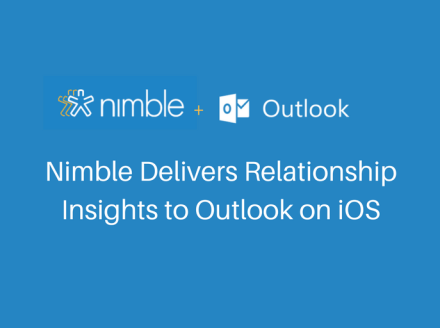 Nimble Delivers Relationship Insights to Outlook on iOS