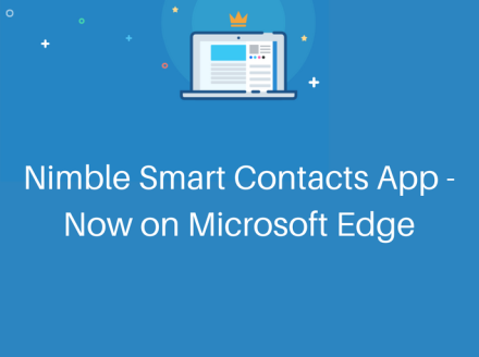 Nimble Contacts App – Now on Microsoft Edge