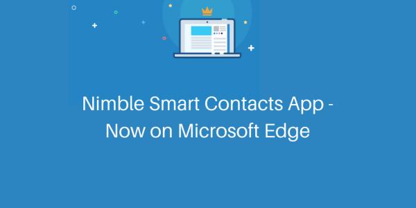 Nimble Contacts App – Now on Microsoft Edge