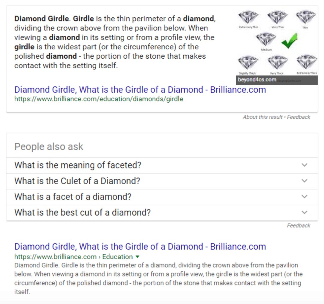 Diamond Girdle