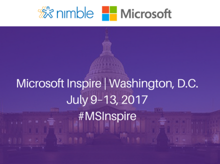 Meet @Nimble at @Microsoft #MSInspire 2017