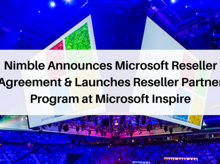 Nimble Announces Microsoft Reseller Agreement and Launches Reseller Partner Program at Microsoft Inspire 17