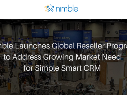 Nimble Launches Global Reseller Program to Address Growing Market Need For Simple Smart CRM