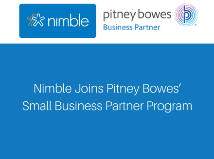Nimble Joins Pitney Bowes' Small Business Partner Program