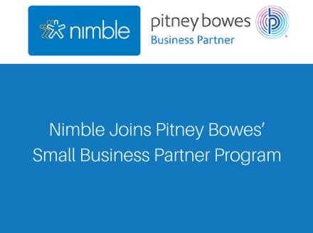 Nimble Joins Pitney Bowes' Small Business Partner Program