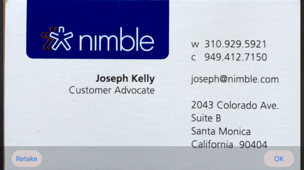 Nimble adds business card scanner and email signature capture screen shot 2017 09 05 at 25005 pm magicingreecefo Image collections