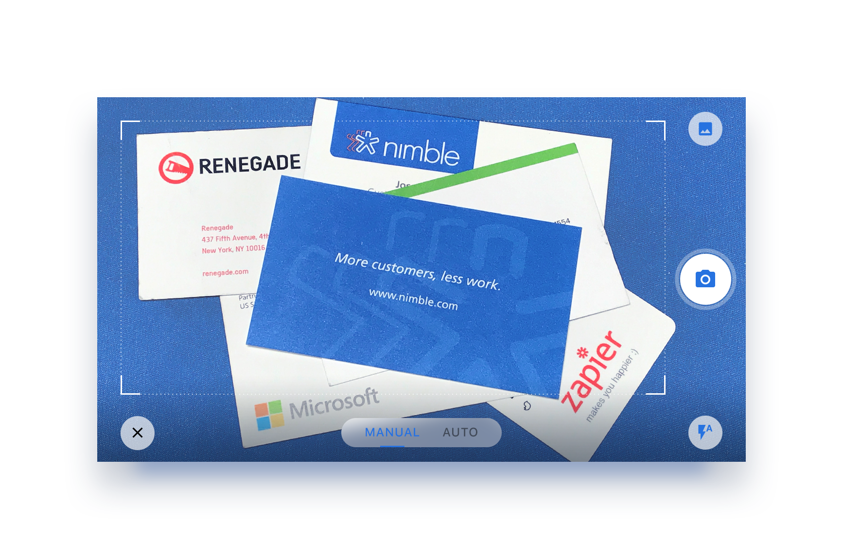 Nimble Adds Business Card Scanner and Email Signature Capture | Nimble