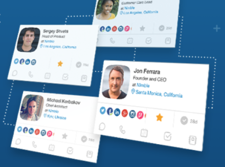 Nimble Launches Contact Manager to Simplify Relationship Management for Office 365, G-Suite and 80+ Cloud Apps