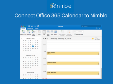 Nimble Now Connects With Your Microsoft Office 365 Calendar