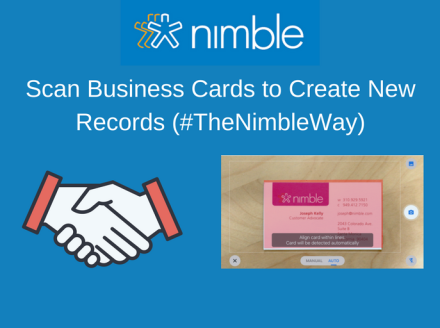 Scan Business Cards to Create New Records (#TheNimbleWay)