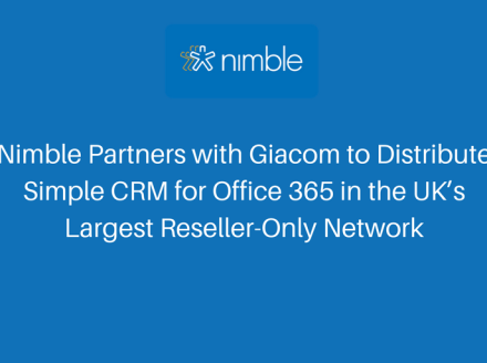 Nimble Partners with Giacom to Distribute Simple CRM for Office 365 in the UK's Largest Reseller-Only Network