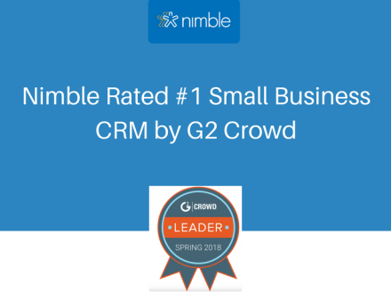 Nimble Rated #1 Small Business CRM by G2 Crowd