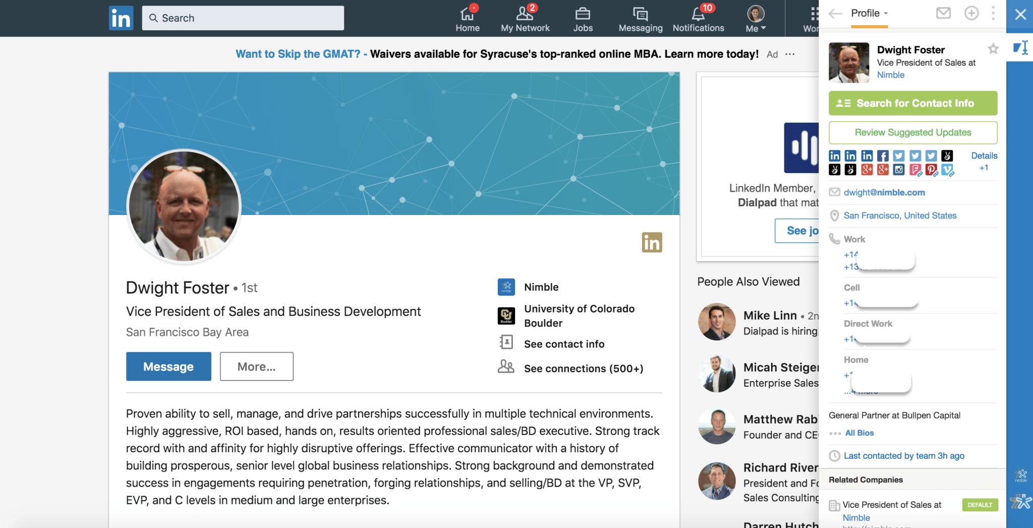 Dwight Foster - Nimble on LinkedIn