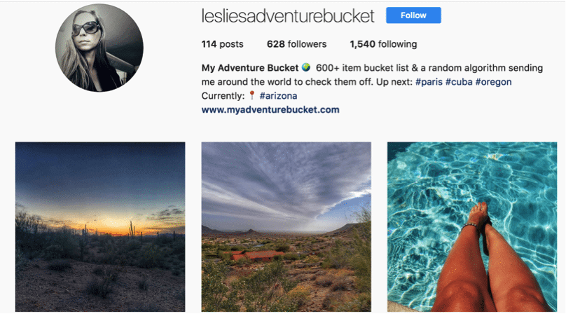 Social Media Branding Tips- Leslie Adventure Bucket