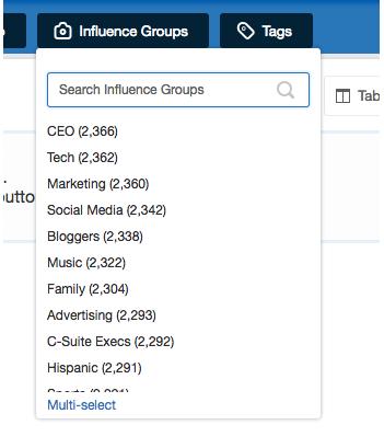 Kred Score Nimble Contact Card Influence Groups