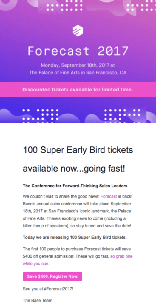 effective event email invites examples